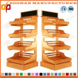 Fashionable Wooden Supermarket Vegetable and Fruit Display Shelf (Zhv9)