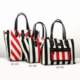 Designer Canvas Striped Series Fashion Lady Handbag (QC-60)
