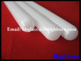 High Purity Opaque Round Bottom Silica Quartz Glass Sleeve