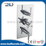 Wall-Mount 3 Way Cross Lever Thermostatic Shower Valve for Bathroom