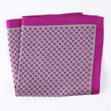 Luxury Silk Polyester Dots Plaid Flower Printed Pocket Square Hanky Handkerchief (SH-102)