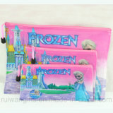 PVC A4 Document Bag, Frozen Stationery Bag Set