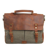 Man Messenger Bag Genuine Leather Fashion Laptop Handbag (RS-6807A)