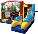 New Interactive Combo Inflatable Bouncy Slide CS107