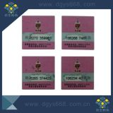 Anti-Counterfeiting Security Silver Scratch off Code Label
