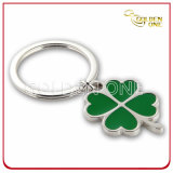 Factory Price Clover Shape Nickel Plated Metal Keyring