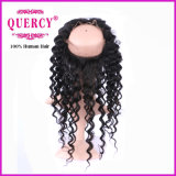 360 Lace Frontal Closure with Babies′ Hair, Natural Color Deep Wave