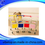 Mini Supermarket Trolley Cart with Mobile Phone Holder Function