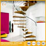 Indoor Steel Structure Spiral Staircase Modern Artistic Stairs Design