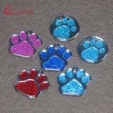 Factory Custom Glittery Paw Shaped Dog Tag for Sale
