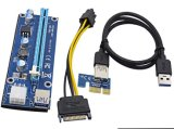 USB3.0 PCI-E Express 1X To16X Extender Riser Card Adapter Ver. 006c