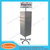 4 Sides Free Standing Metal Rotating Pegboard Display Stand for Hanging
