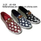 Latest Fashion Men′s Slip on Low Price Injection Canvas Shoes (DL60930-2)