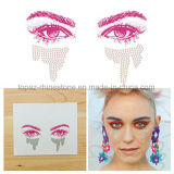 High Quality and Fashionable Eco Friendly Glue Face Tattoo Rhinestone Sticker (S014)