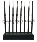 Lojack/ WiFi/ VHF/ UHF Mobile Phone Jammer 8 Bands 60 Meters
