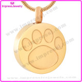 Cremation Necklaces for Ashes Round Pendant with Paw Ijd9738