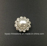 Hot Selling 9mm Crystal Rhinestone in Sewing on Pearl with Claw Setting Rhinestone (TP-9mm pearl round crystal)