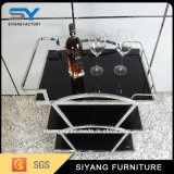 Three-Layer Round Tube Stainless Steel Dining Wine Trolley