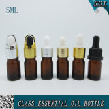 5ml Mini Cylinder Amber Glass Dropper Essential Oil Bottle