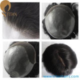 Invisible Knots Thin Skin French Lace Front Remy Hair Toupee