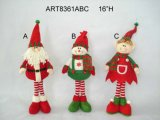 "16""H Standing Santa, Snowman and Elf Christmas Decoration Gift-3asst"