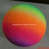8.5 Inch Eco Friendly PVC Rainbow Playground Ball