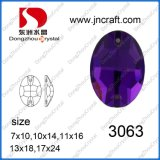 Dz-3063 Amethyst Sew on Rhinestone for Clothes Decoration
