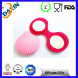 Lovely Seashell Shape Silicone Coin Purse for Children with Mirror