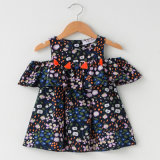 Children Clothes Cotton Tassel Lace Strapless Dresses of The Girls