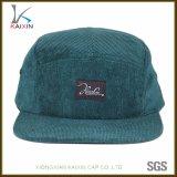 Custom Flat Brim Plain Corduroy 5 Panel Hat
