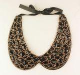 Black Diamond Geometric Pattern False Collar Necklace Fashion Jewelry
