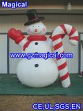 Inflatable Snowman with Candy Cane Christmas Decoration (MIC-452)