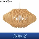 Designer Model Wooden Chip Pendant Lamp with Good Price
