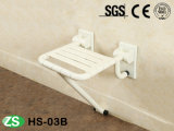 Top Selling Wall Mounted ABS Nylon Shower Seat with Support Leg
