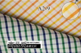 Yellow/Orange Checks Chequer Yarn Dyed Shirt Fabric