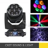 7X15W RGBW LED Bee Eyes Clay Moving Head Light