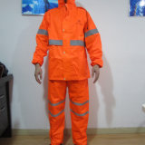 Road Workers Heavy Duty Breathable Rain Wear with Reflective Strips