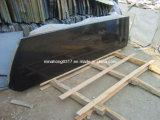Mongolia Black Granite Slab for Countertops, Black Granite