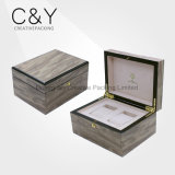 Custom Wood Gift Packaging Box for 2 Watches