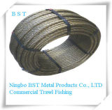 Galvanized Steel Wire Rope with Certificate ISO9001-2008 (6*19S+FC)
