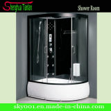Black Multifunctional Corner Acrylic Round Steam Shower Room (TL-8821)