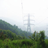 220kv Doubule Circuit Corner Power Transmission Steel Tube Tower
