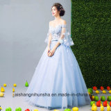 Sweetheart Strapless Flowers Beading Wedding Party Ball Gown Evening Dress