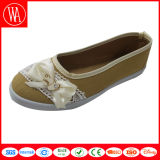 Women Flat Casual Canvas Shoes with Lace Bowknot