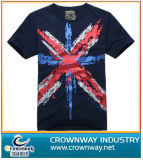 Mens Fashion Design Cotton Tshirt with Printed Pattern