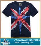 Mens Fashion Design Cotton Tshirt with Printed Pattern