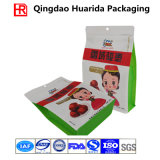 Square Bottom Plastic Food Packaging Bag with Zipper&Tear Notch