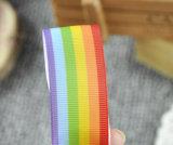 Rainbow Grosgrai Ribbon 7094 Cake Bow Hair Dummy Clips