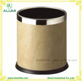 Durable and Fire Resistant Leather Trash Can for Hotel