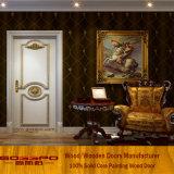 White Paint Nature Solid Wood Interior Door (GSP2-075)